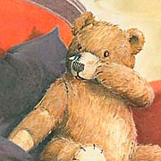 Illustration Teddy mit Fliege