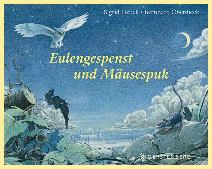 Illustration Bilderbuch Eule und Maus, Farbstift Illustration
